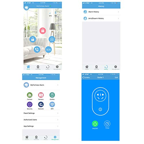 Compatible with Alexa -App Controlled Updated S03 WiFi and Landline Security Alarm System Deluxe Kit Wireless DIY Home Security System by Fortress Security Store- Easy to Install