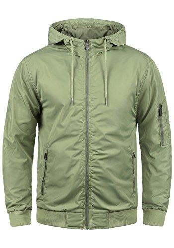 Blend Razy Herren Übergangsjacke Herrenjacke Jacke mit Kapuze, Größe:XL, Farbe:Oil Green (77202)