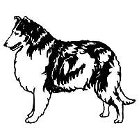 花を張る 羊飼いの装飾ステッカー車のモデルファッションの人格 (Color : Black)
