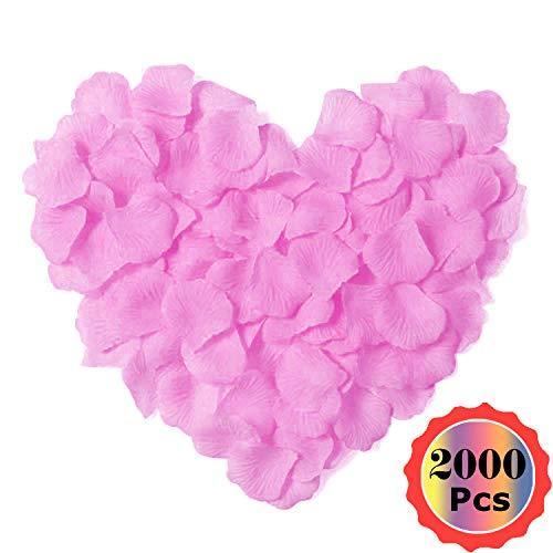 YuChiSX Seta Rosa Petali Confetti di Nozze 2000 Pezzo, Petali di Rosa Finti Rossi Coriandoli,Petali di Rosa Rossa per Decorazione di Matrimonio, Decorazioni di San Valentino