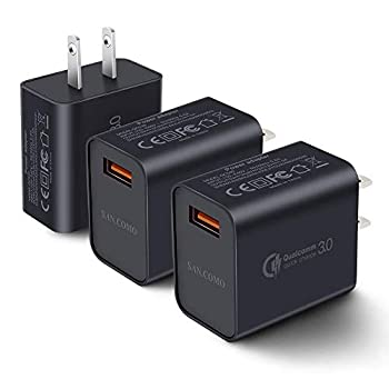 [3-Pack] Quick Charge 3.0 Wall Charger,18W QC 3.0 USB Wall Charger Adapter Fast Charging Block Compatible Wireless Charger Compatible with Samsung Galaxy S10 S9 S8 Plus S7 S6 Edge Note 9 LG Kindle