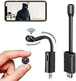 INQMEGAPRO Mini HD WiFi Cámara oculta Cámara espía Seguridad doméstica Detección de movimiento oculta Función de...
