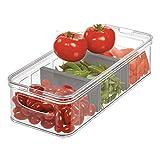 iDesign Crisp Caixa de pl stico para geladeira e despensa grande dividida com al as, 1