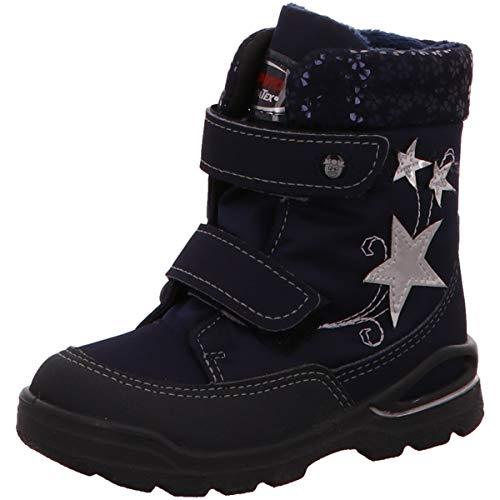 RICOSTA Pepino Mädchen Winterstiefel FINJA, WMS: Weit, wasserfest, leger Winter-Boots Outdoor-Kinderschuhe gefüttert,Nautic/Marine,21 EU / 5 UK
