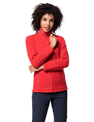 Jack Wolfskin Damen Midnight Moon Women Fleecejacke, Clear red, XXL