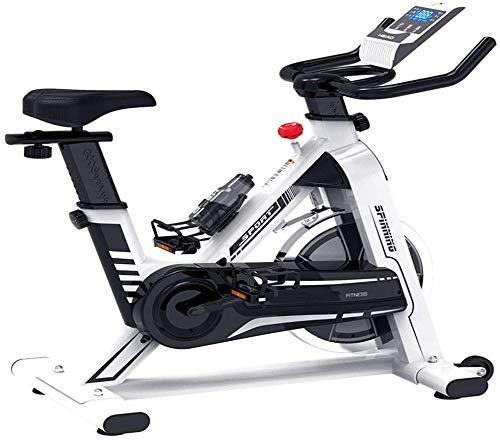HIGHKAS Home Spinning Bike, Silent Exercise Bike Fitnessgeräte, elektronische Multifunktionsuhr, Infinite Resistance System, 128 * 51 * 113 cm