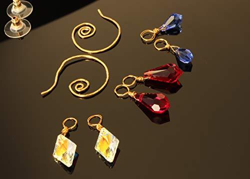 Swarovski Einhänger Creolen 3 Paar Anhänger Set Verschiedene Arten 1 Paar Ohrringe Hängend Glitzer Schmuck Handmade