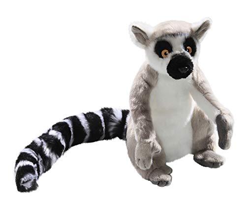 Carl Dick Katta, Lemur sitzend grau aus Plüsch ca. 22cm, 34cm mit Schwanz 2880