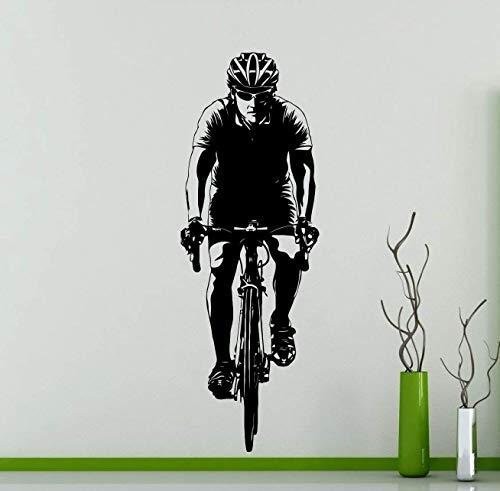 pegatinas de pared infantiles Ciclista ciclista bicicleta etiqueta de la pared Ciclismo deporte vinilo calcomanía casa cualquier habitación Interior Art Decor impermeable Mural