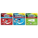 Dentemp Repair Kit with Dental Cement, Refil-it Lost Filling Repair and Recap-It Loose Caps (Packaging May Vary)