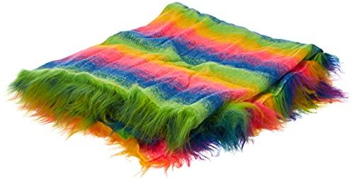 CRS Fur Fabrics 8800201487257 Langfloriger Kunstfell-Stoff, acryl, Rainbow Mix, 1Mtr - 150cm x 100cm