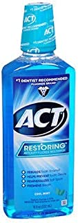ACT Restoring Anticavity Fluoride Mouthwash Cool Mint 18 oz (Pack of 3)