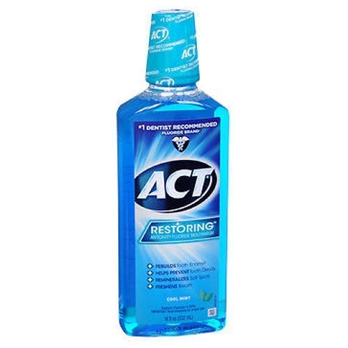 ACT NEW before selling Restoring Anticavity Fluoride Mouthwash 18 Reservation Pac Mint oz Cool