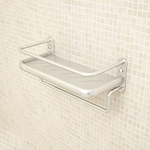 MENG Badregal Shelf Schlags-Free Space Aluminium Badezimmer Küche Rack-Badezimmer-Anhänger Badezimmer-Rack Handtuchwärmer Durable Duschraum Sims (Size : 34 * 15 * 16cm)