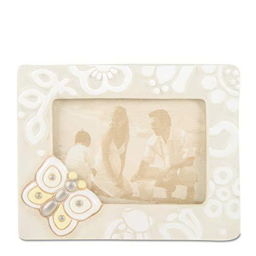 THUN  - Cornice Portafoto da Tavolo Medio - Formato 12,5x9 cm - Color Avorio - Ceramica - Linea Prestige