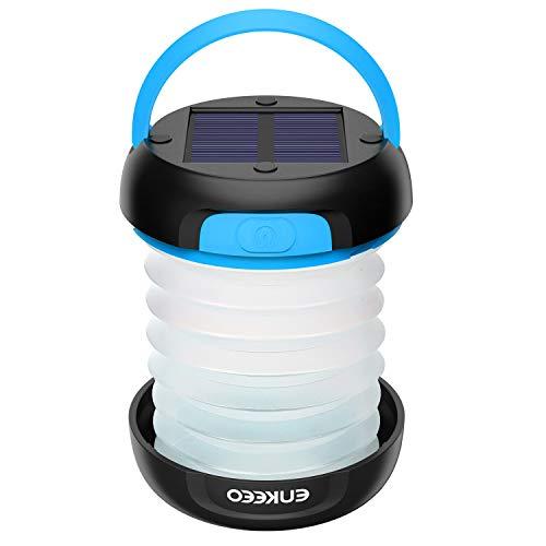 enkeeo LEDランタン 3WAY高輝度 懐中電灯 ソーラーライト 懐中電灯 USB充電式 折り畳み式 軽量 アウトドア ...