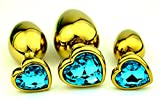 3 piezas de arte de metal de acero inoxidable en forma de corazón dorado Ḁdûlt Ṫọys plateado joyería de...