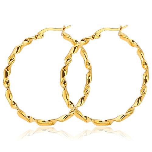 Minimalist Trendy Large Hoop Earrings For Women Geometric Round Circle Loop Earrings 60mm Silver