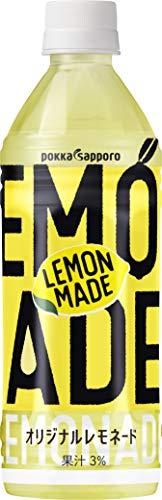 ポッカサッポロ Lemon Made オリジナルレモネード 500ml ×24本