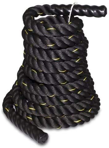 SUPER DEAL Black Poly Dacron Battle Rope