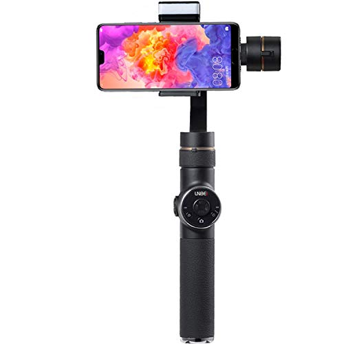 3-Axis Handheld Gimbal Stabilizer & LED Adjustable Night Fill Light and Lightning Zoom Face Tracking Time-Lapse Portable PTZ Stabilizer Panorama Mode Sports Camera for Phone 8 X Xs Max Xr X 8 Plus 7