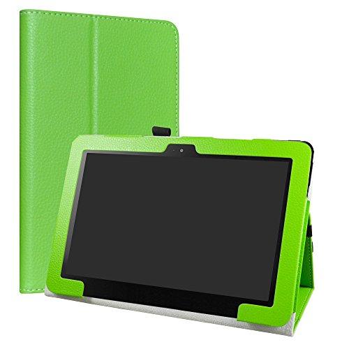 ASUS Transformer Book T101HA Funda,LiuShan Folio Soporte PU Cuero con Funda Caso para ASUS Transformer Book T101HA 10.1 Pulgadas Tablet,Verde