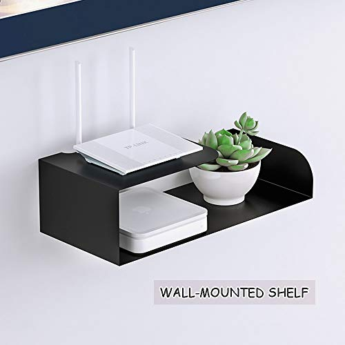 Set top box Rack Regal aus Schmiedeeisen, Desktop-Bildschirmheber, TV-Schrankleiste Float
