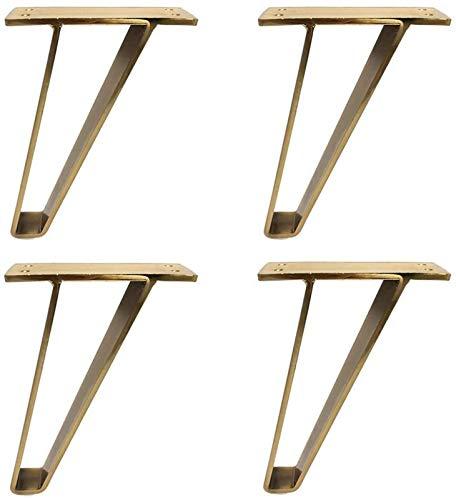 KISAD Patas de Muebles Patas de Mesa de Repuesto Sofá Fee CAFÉ Mesa PIERNAS Metal Bed PIE 4 UNIDS PIES DE Muebles para EL CABATORIO DE COMPORTURA Cabeza DE TV FERMANO TV