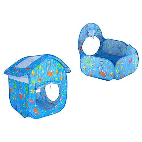 STOBOK Piscina de Bolas para Niños Piscina de Bolas para Niños Tienda de Juego para Bebés Interior Al Aire Libre Parque de Bolas Piscina con Tienda Plegable Casa sin Túnel