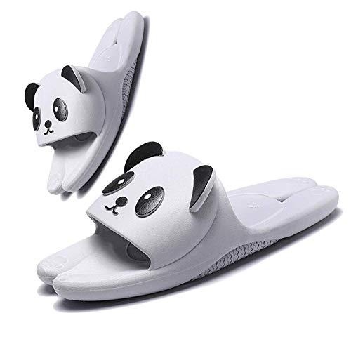 Unisex Niños Availablel Panda Zapatillas de Dibujos Animados Lindos Zapatos Caseros Zapatos de Ducha Sandalias al Aire Libre Suave Antideslizante Regalo(32/33 EU,Gris)