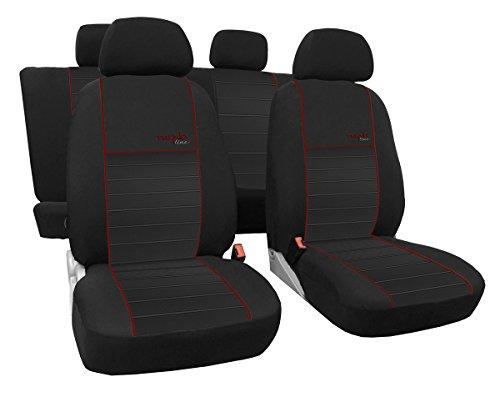 Autositzbezüge, Schonbezüge Trend Line Passend für Seat Ibiza - Universal Stoffsitzbezug Zum Sonderpreis!!! in Diesem Angebot Dunkelrot.