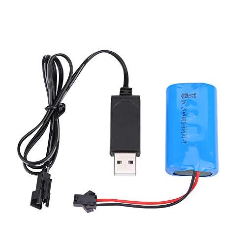 RC Akku, LiPo Akku Wiederaufladbare Batterie 7,4 V 500 mAh Mit USB Kabel Aufgerüsteter für WPL, Crawler, Militär RC Auto Car RC Auto Batterien Ersatzakku Akkupack