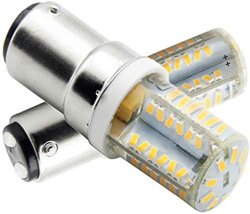 Ymm Bombilla LED B15D 4W LED Blanco Cálida 3000K Non-Dimmable Equivalente a Lámpara Halógena de 45W Doble Bayoneta B15D LED Luz Para Máquina de Coser Lámparas (2 unidades)