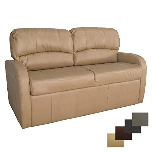 """RecPro Charles Collection   70"""" RV Jack Knife Sofa w/Arms   RV Sleeper Sofa   RV Couch   RV Living Room (Slideout) Furniture   RV Furniture   Camper Furniture   Toffee"""