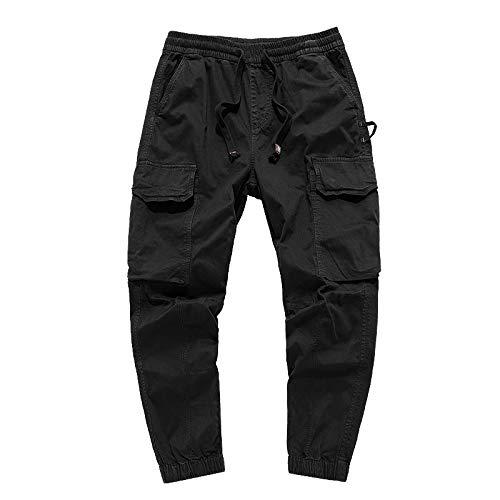 Cargohose für Herren Lose, großformatige, einfarbige Fußhose mit Mehreren Taschen für Reisen, Wandern, Camping, Outdoor 28