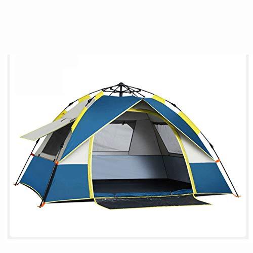 Monthyue Portátil Tienda De Campaña Familiar Impermeable Doble Capa Tienda Iglú para Protección Solar UV Incluye Bolsa De Viaje Piquetas para Tienda,Blue-205X195X130cm