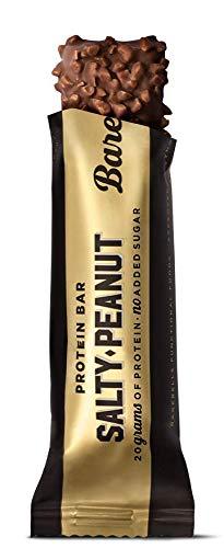 Barritas de Proteínas Barebells Salty Peanut (Sabor Cacahuete Salado) 12 Barritas x 55g, Bajo en Carbohidratos, Bajo en...