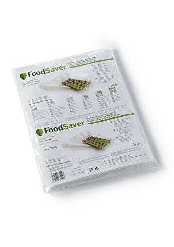 Foodsaver FSB3202-I Folienbeutel 32 Stück 28x36 cm/Vakuumrollen für lebensmittel/Vakuumierer/Sous-Vide