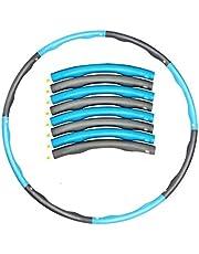 BBGSFDC Aro de Hula ponderado Adulto, aro Desmontable y Ajustable de 8 Secciones, Relleno Suave y diseño de Masaje Ondulado, Gimnasio Plegable Hula Hoop (Color : D)