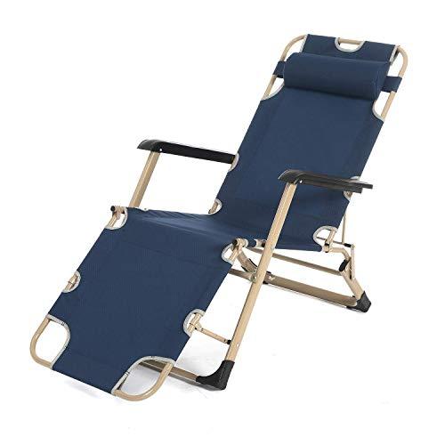 Bias&Belief Sun Lounger Reclining Garden Chair Garden Beach Backyard Patio Poolside Chair Max Load 330 Pounds,Blue