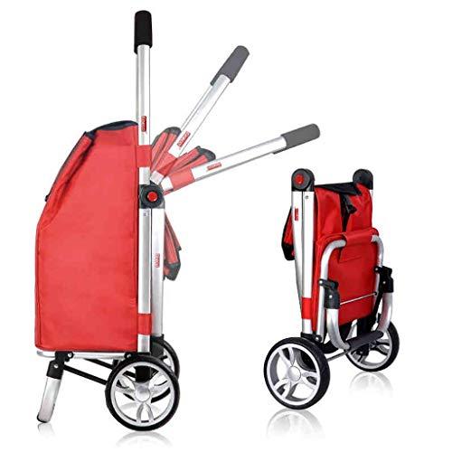 LIPENLI Cesta plegable Subir escaleras Carros Carros de carros de mano de carritos de equipaje etiquetas portátil coche