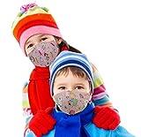 GOOGIT Mascherina Facciale Fodera 100% Cotone Lavabile Riutilizzabile per Bambino Protezione Viso (2pcs - Pink Dream)