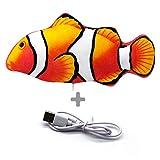 Heflashor - Peluche elettrico a forma di pesce con erba gatta per gatti e gattini, giocatt...