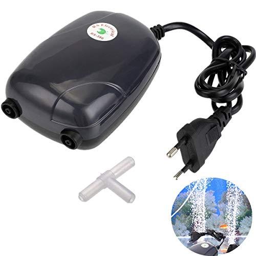 Aquarium Luftpumpe, GreenSun LED Lighting 5W Leise Luftpumpe Sauerstoffpumpe Mini Aquariumpumpe Aquarien Oxygen Pumpe mit Air Stone