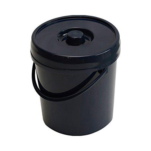 Lockweiler Windeleimer Classic - Mülleimer mit Bügel & Deckel zur Windel-Entsorgung - runder Kunststoff-Eimer mit 11 l Fassungsvermögen