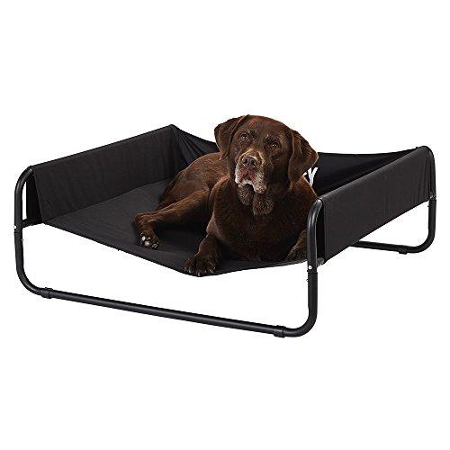 Cama para perro elevada, de Bunty, abierta por un lado, portátil, impermeable, para usar en exteriores