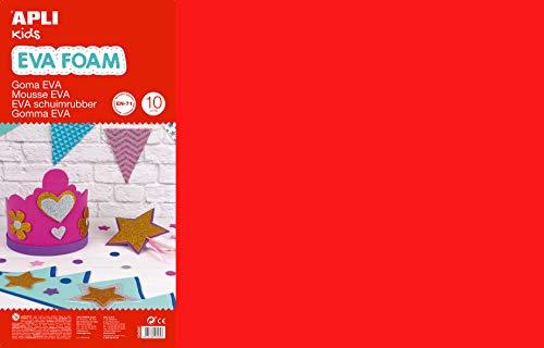 APLI Kids 13434- Goma EVA multicolor 600 x 400 mm 10 hojas