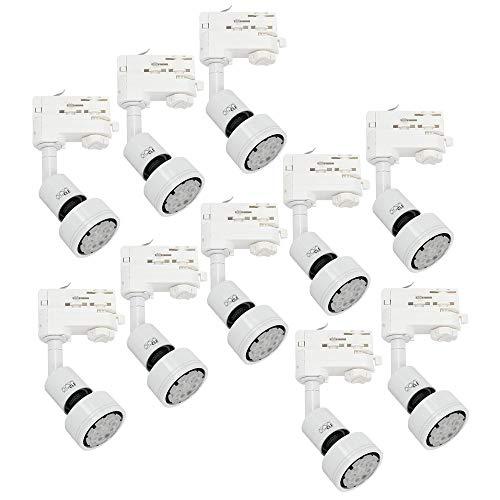 10x CLE PURI LED GU10 weiss 3 Ph. Stromschienstrahler f. Erco Staff Lival Eutrac Global Schiene max. 50W