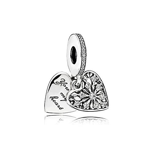 Chritice Bead - Abalorio para pulsera de plata de ley 925, ideal como regalo para mujer, collar, pulsera o niña con joyero,