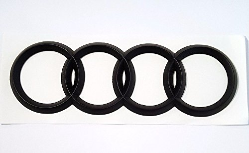 Audi Matte BLACK Rear Emblem Decal Logo Trunk Hatch Rings Genuine OEM